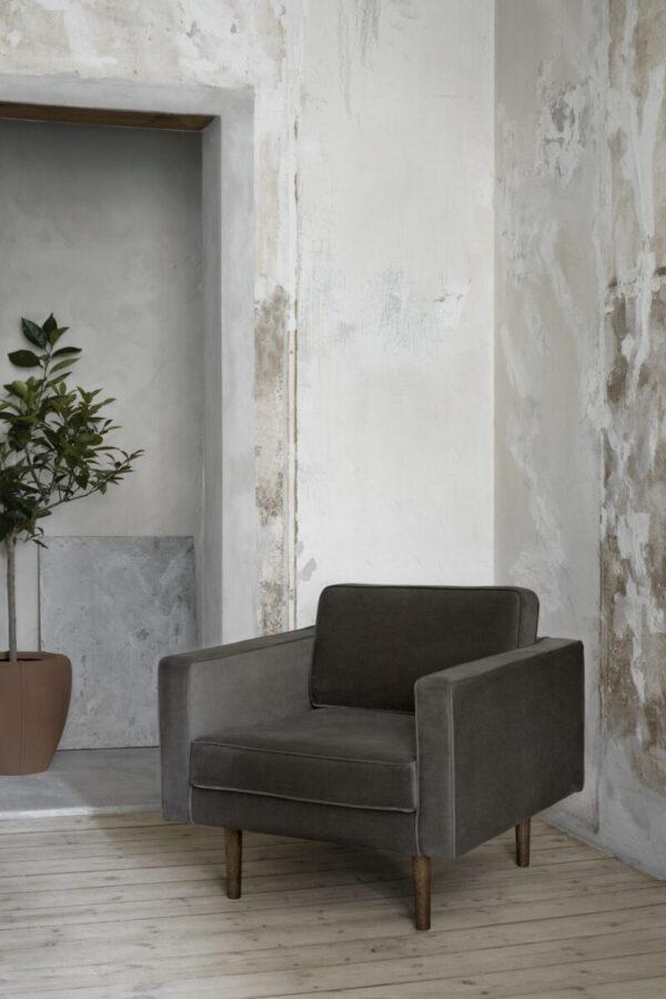 Broste Copenhagen wind lænestol i grape leaf velour