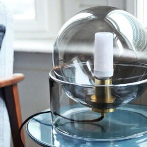 Hübsch bordlampe i grå glas