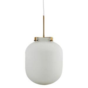 House Doctor ball pendel i hvid opal glas