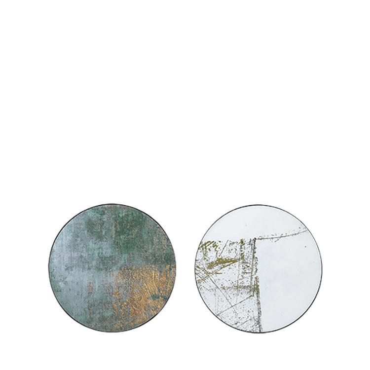 Image of   Broste Copenhagen Ejnar væg kunst i jern og glas - 40 cm