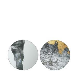 Broste Copenhagen Ejnar væg kunst i jern og glas - 60 cm