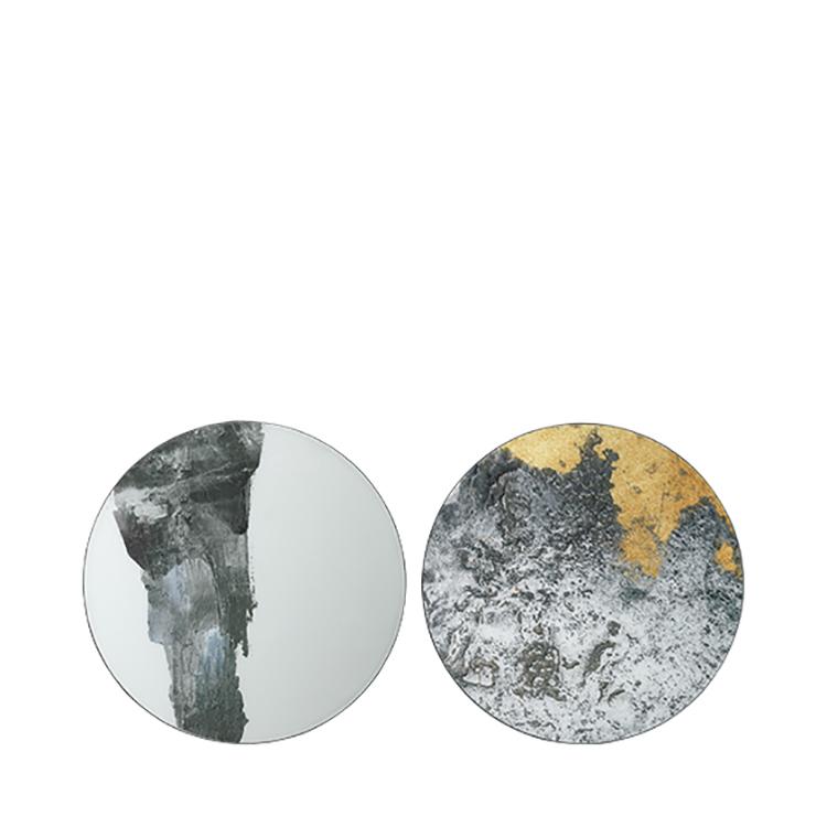 Image of   Broste Copenhagen Ejnar væg kunst i jern og glas - 60 cm