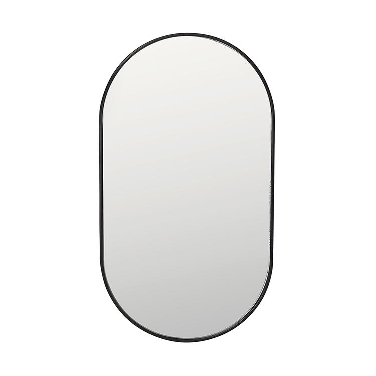 Image of   Broste Copenhagen Pelle spejl i jern - 66x33 cm
