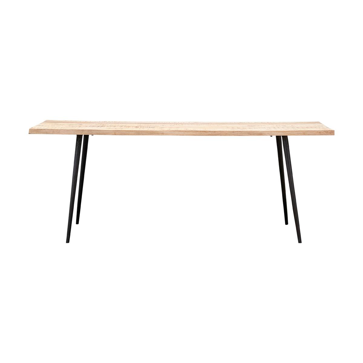 Image of   House Doctor Club spisebord i lys mangotræ og jern - 200 cm