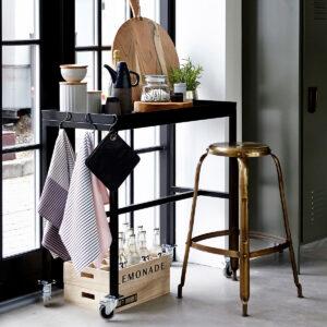 House Doctor Define barstol i messing 75 cm høj