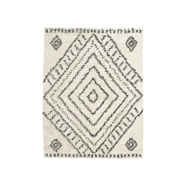 House Doctor Nubia gulvtæppe i hvid
