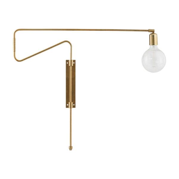 House Doctor Swing væglampe i messing 70 cm