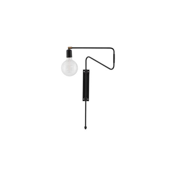 House Doctor sort væglampe Swing 35 cm