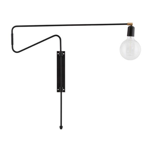 House Doctor sort væglampe Swing 70 cm