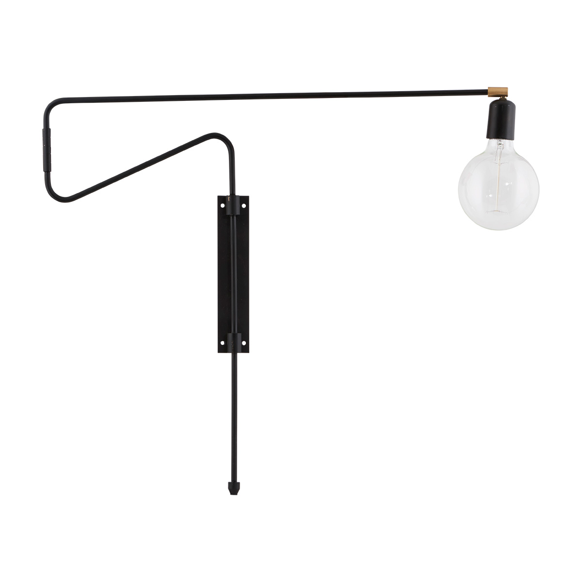 Image of   House Doctor Swing væglampe sort - 70 cm