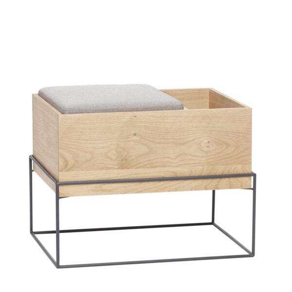 Hübsch bænk med hynde og ekstra rum 50 cm