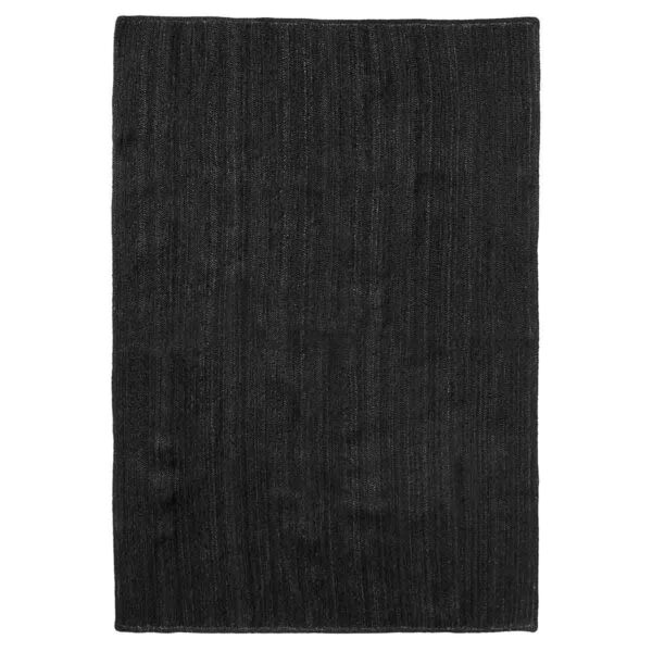 Nordal jute gulvtæppe i sort, 160x240 cm