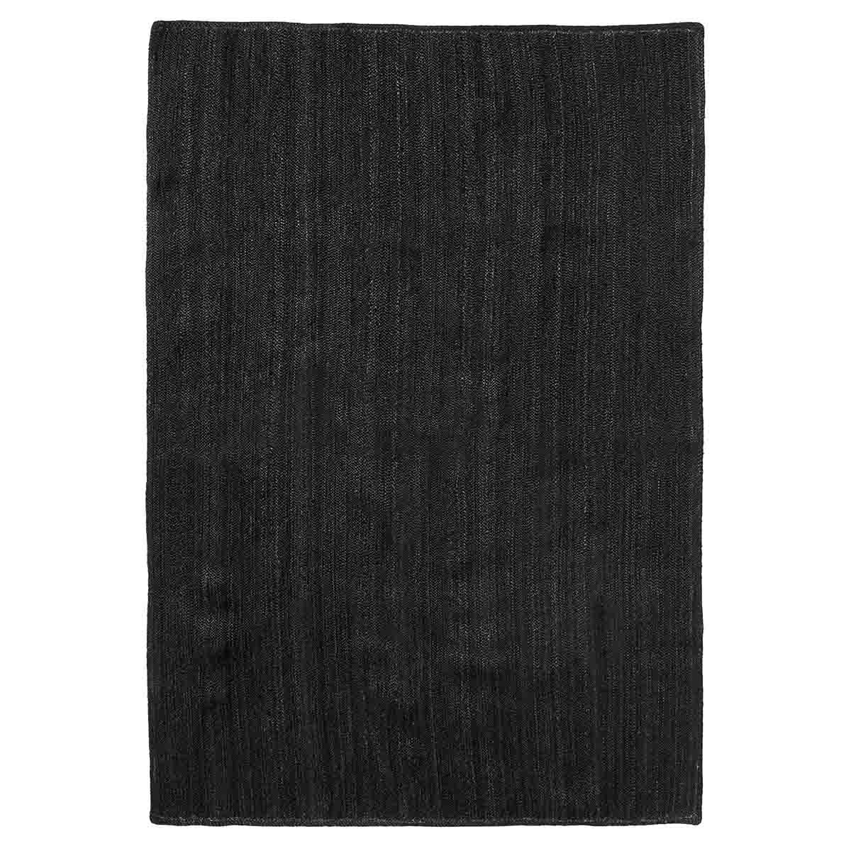 Image of   Nordal Jute gulvtæppe sort 160x240 cm