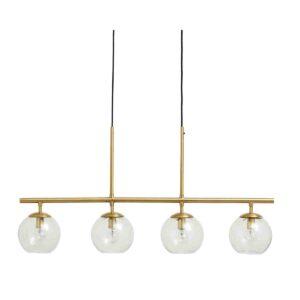 Nordal Globe loftlampe i messing med 4 glaskupler