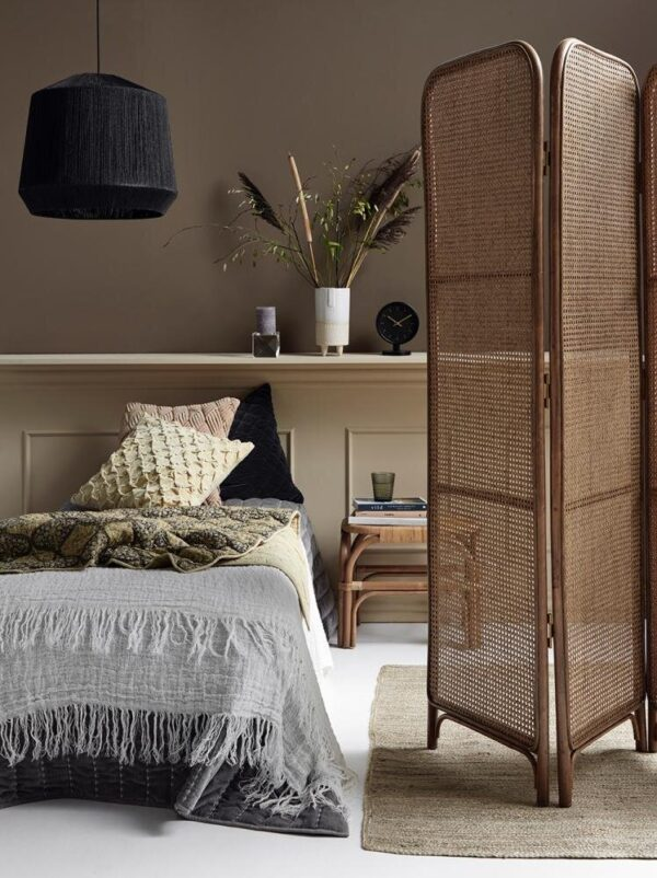 Nordal hvidt sengetæppe i hør, 270x270 cm