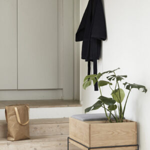 Hübsch bænk egetræ med hynde og ekstra rum 50 cm