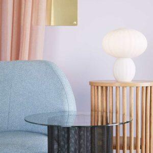 Hübsch bordlampe opal hvid ø23 cm