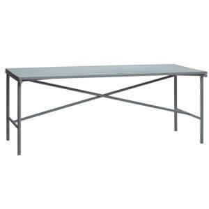 Hübsch havebord metal grå 191 cm