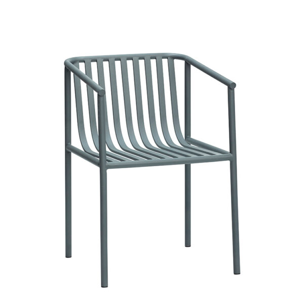 Hübsch havestol metal grå 82 cm