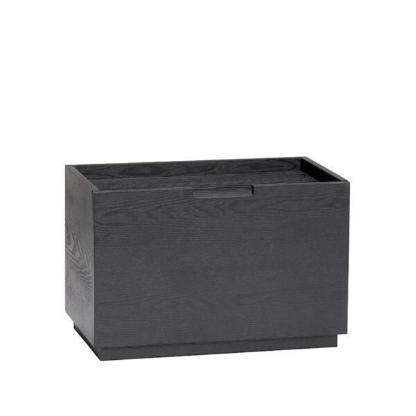 Hübsch opbevaringsboks sort ask 50 cm