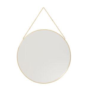 Hübsch rundt spejl messing 40 cm