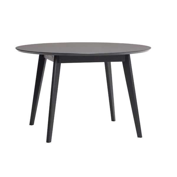 Hübsch spisebord egetræ sort ø120 cm