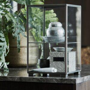 House Doctor Galior opbevaringskrukke med låg i sølv
