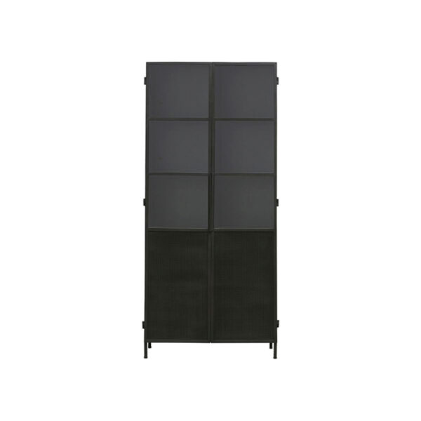 House Doctor Kabinet Collect Jern vitrineskab i sort 200 cm