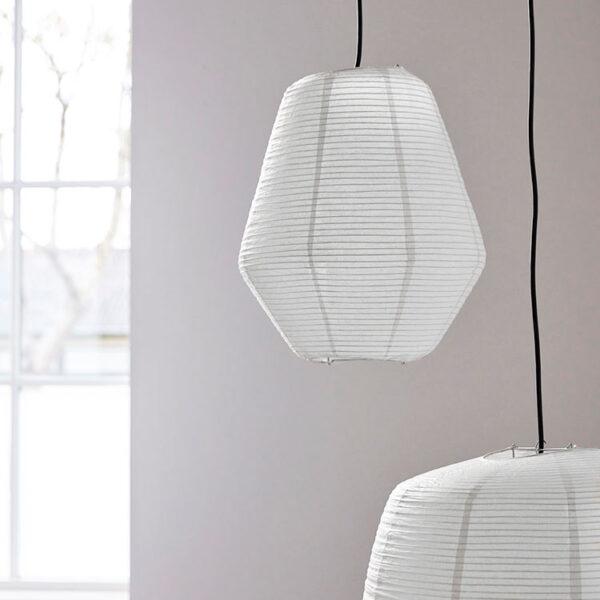 House Doctor Bidar lampeskærm hvid Ø36 cm