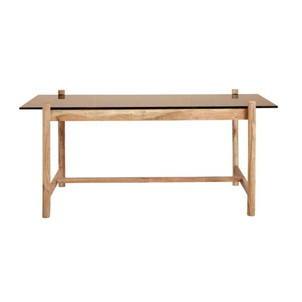 Nordal Amber spisebord træ og glas 180 cm