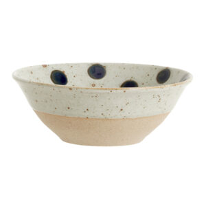 Nordal Grainy skål med prikker sand og mørkeblå