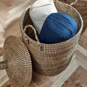 Nordal laudy vasketøjskurve flettet søgræs