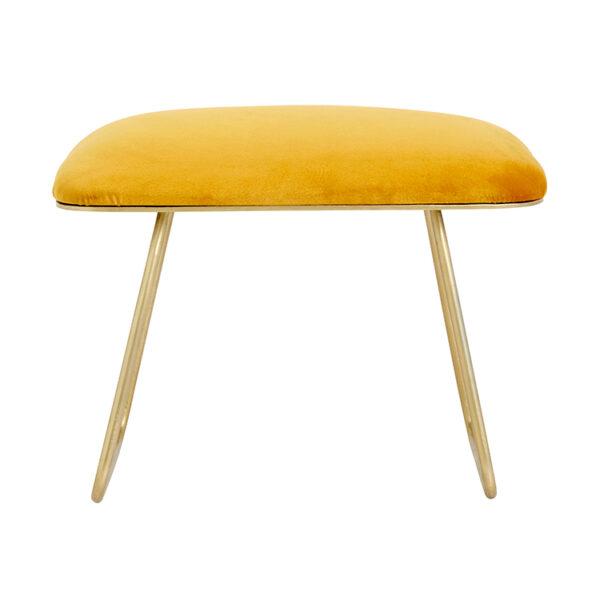 Nordal Warm skammel i gul 40x60 cm