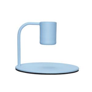 Hübsch lysestage i lyseblå metal