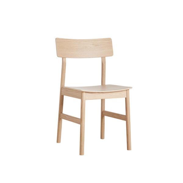 WOUD Pause spisebordsstol i hvidpigmenteret egetræ