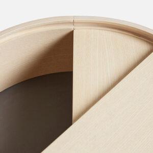 Woud arc sidebord i hvidpigmenteret ask Ø42 cm