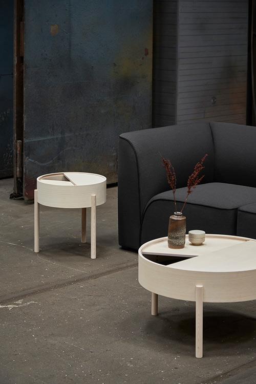 Arc sofabord i hvidpigmenteret ask Ø66 cm