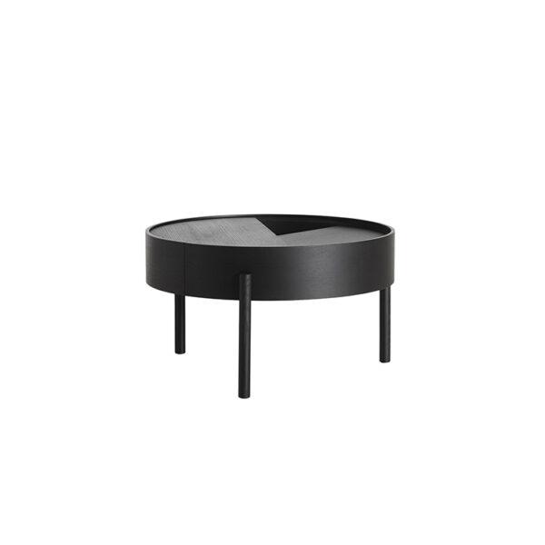 Woud arc sofabord i sort malet ask Ø66 cm