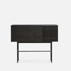 WOUD array skænk i sort eg 120 cm