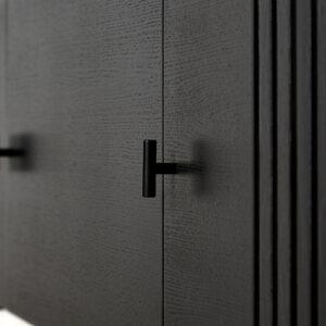 WOUD array skænk i sort eg 180 cm