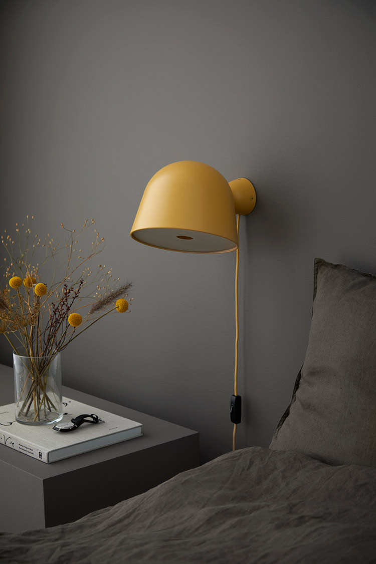 Picture of: Kuppi Vaeglampe I Sennepsgul Woud Vaeglampe I Tidslost Design
