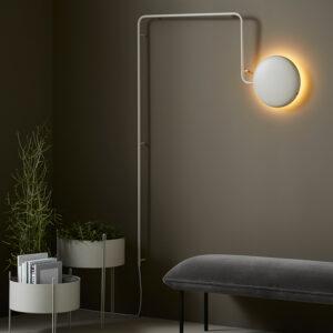 WOUD Mercury væglampe i lys grå