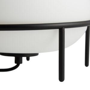 WOUD Pump bordlampe i hvid opalglas med sort metalstel
