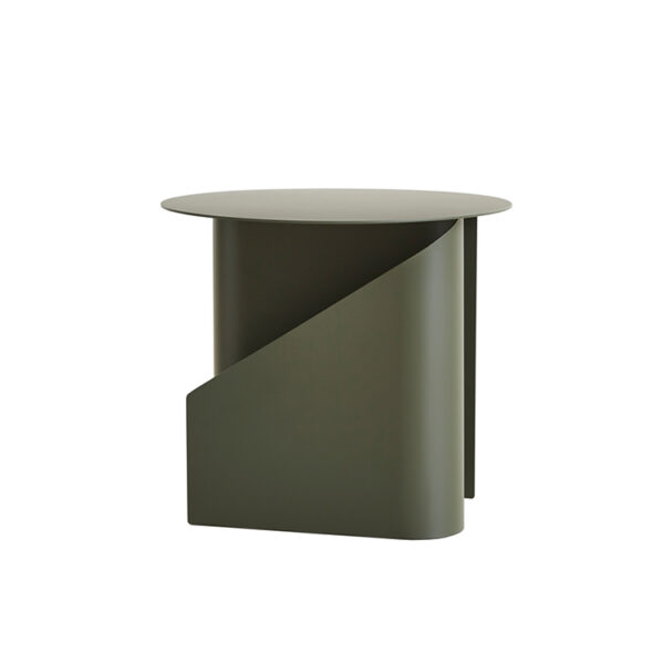WOUD sentrum sidebord i støvet grøn metal