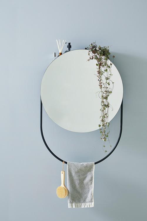WOUD Verde spejl med sort metalramme