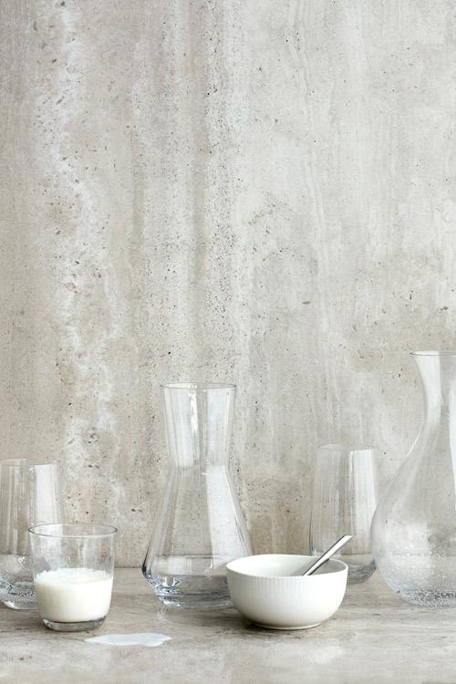 Broste Copenhagen Sandvig karaffel i klar glas med riller