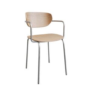 Hübsch spisebordsstol i natur og krom.
