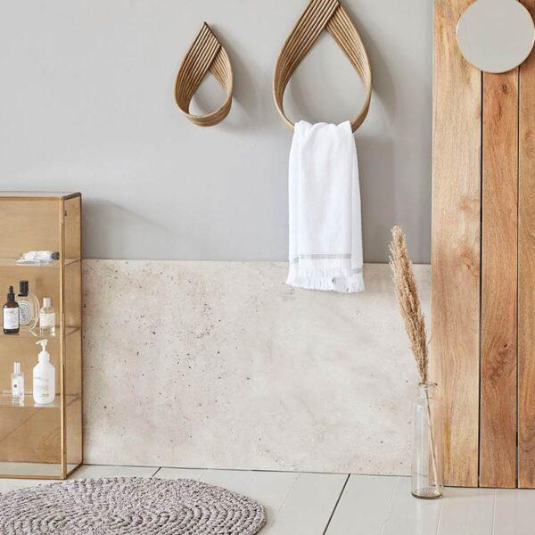 House Doctor crochet badeværelsesmåtte i hvid - Ø80 cm