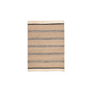 House Doctor Beach gulvtæppe 150x220 cm i søgræs med sorte striber