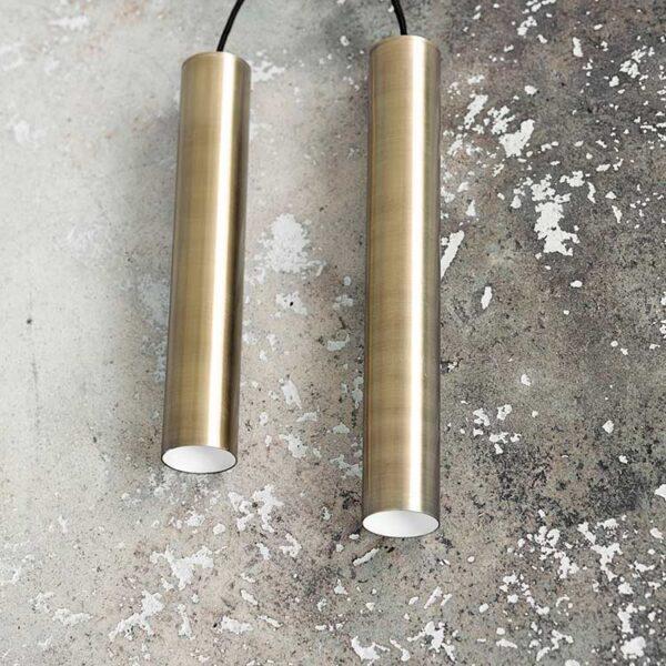House Doctor pin lampe i messing 35 cm høj